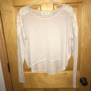 Abercrombie and Fitch Sweater with lace detail
